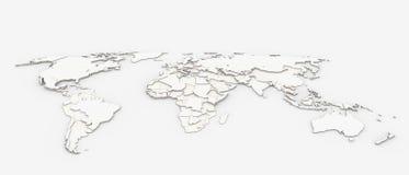 Alivio del mapa del mundo Fotografía de archivo libre de regalías