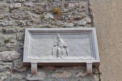 Alivio del santo Quirinus en la ciudad de Krk en la isla de Krk Foto de archivo libre de regalías