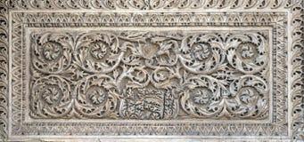 Alivio en el portal del norte, detalle de la fachada de la basílica del ` s de St Mark, Venecia Foto de archivo libre de regalías