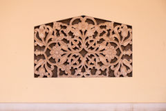 Alivio la India de la pared de la flor Fotografía de archivo libre de regalías