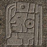 Alivio maya cincelado en granito imagen de archivo libre de regalías