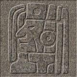Alivio maya cincelado en granito foto de archivo libre de regalías