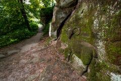 Alivios de la roca cerca del statek de Kopicuv Imagen de archivo libre de regalías
