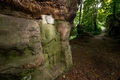 Alivios de la roca cerca del statek de Kopicuv Fotografía de archivo