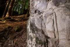 Alivios de la roca cerca del statek de Kopicuv Fotos de archivo