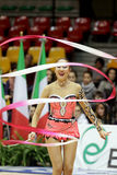 Aliya Garayeva RHYTHMIC GYMNASTIC. Desio (MI), Italy, 1st December 2012 - Serie A1: The athlete in the photo is Aliya Garayeva, performing with ribbon, for the Royalty Free Stock Photo