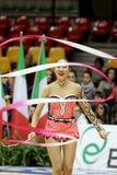 Aliya Garayeva RHYTHMIC GYMNASTIC. Desio (MI), Italy, 1st December 2012 - Serie A1: The athlete in the photo is Aliya Garayeva, performing with ribbon, for the royalty free stock photo
