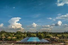 Aliya Resort Pool, Dambulla, Sri Lanka Immagini Stock Libere da Diritti