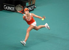 Alize CORNET (FRA) at Open GDF Suez 2010 Royalty Free Stock Images