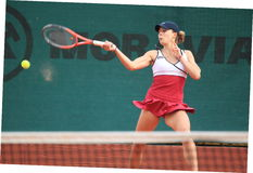 Alize Cornet - Sparta Prague open 2012 Stock Photos
