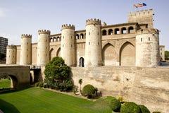 Aljaferia宫殿在萨瓦格萨 库存图片