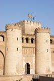 aljaferia宫殿萨瓦格萨 免版税库存照片