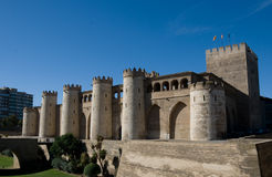 Aljaferia. Palace built in Zaragoza in the 11th century Stock Photos