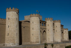 Aljaferia. Palace built in Zaragoza in the 11th century Stock Photo