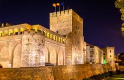 Aljaferia, der arabische Palast in Saragossa, Spanien Stockbild