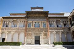 Aljaferia eins der besten konservierten maurischen Paläste in der Stadt Sara Lizenzfreie Stockfotografie