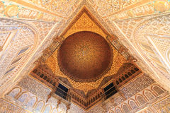 Aljaferia eins der besten konservierten maurischen Paläste in der Stadt Sara Lizenzfreies Stockfoto