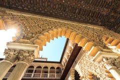 Aljaferia eins der besten konservierten maurischen Paläste in der Stadt Sara Stockfoto