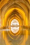 Aljaferia eins der besten konservierten maurischen Paläste in der Stadt Sara Lizenzfreie Stockfotos