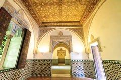 Aljaferia eins der besten konservierten maurischen Paläste in der Stadt Sara Stockfotos