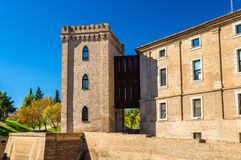Aljaferia, a fortified medieval Islamic palace in Zaragoza, Spain Royalty Free Stock Photos