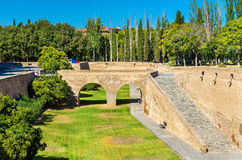 Aljaferia, a fortified medieval Islamic palace in Zaragoza, Spain Stock Image