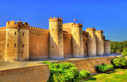 Aljaferia, a fortified medieval Islamic palace in Zaragoza, Spain Royalty Free Stock Image