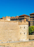 Aljaferia, a fortified medieval Islamic palace in Zaragoza, Spain Royalty Free Stock Photography