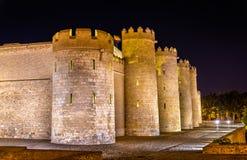 Aljaferia, le palais arabe à Saragosse, Espagne image stock