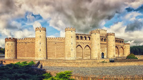 Aljaferia Palace in Saragossa Royalty Free Stock Photography