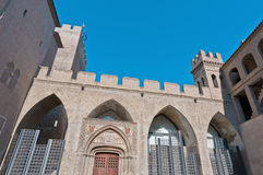 Aljaferia Palace at Zaragoza, Spain Royalty Free Stock Photo