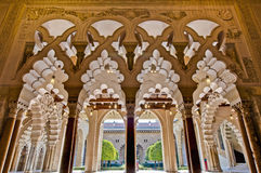 Aljaferia Palace at Zaragoza, Spain Stock Image