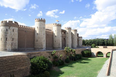 Aljaferia  palace in Zaragoza, Spain. The Aljaferia  palace in Zaragoza, Aragon, Spain. 11th century Islamic Royalty Free Stock Photo