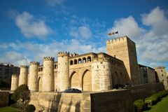 Aljaferia Palace in Zaragoza, Spain Royalty Free Stock Image