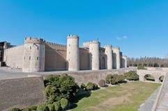 Aljaferia Palace at Zaragoza, Spain Stock Images