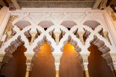 The Aljaferia Palace in Zaragoza royalty free stock photo