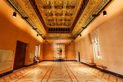 The Aljaferia Palace in Zaragoza royalty free stock images