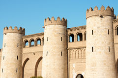 Aljaferia Palast in Zaragoza, Spanien Lizenzfreie Stockfotos