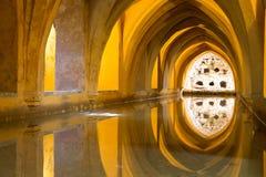 Aljaferia un des meilleurs palais mauresques préservés dans la ville Sara photo libre de droits