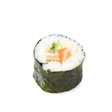 Aljaska hosomaki sushi isolated. Over the white background Stock Photo