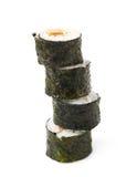 Aljaska hosomaki sushi isolated Royalty Free Stock Image