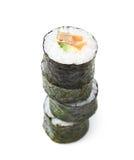 Aljaska hosomaki sushi isolated Royalty Free Stock Images