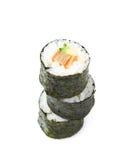 Aljaska hosomaki sushi isolated Stock Images