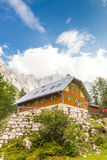 Aljaz Lodge in the Vrata Valley, Slovenia. Stock Photography
