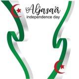 Aljazair dnia niepodległości logo projekta wektor - wektor ilustracja wektor