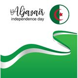 Aljazair dnia niepodległości logo projekta wektor - wektor royalty ilustracja