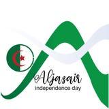 Aljazair dnia niepodległości logo projekta wektor - wektor ilustracji