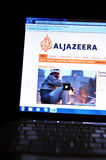 Aljazeera. International news network home page on laptop royalty free stock images