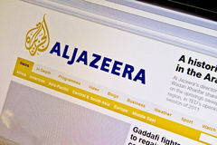 ALJAZEERA. Website displayed on computer screen stock images