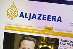 ALJAZEERA. Website closeup on computer screen Photo taken on: JUly 20th, 2011 stock photo